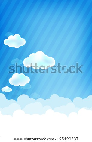Cloud and blue sky vector background