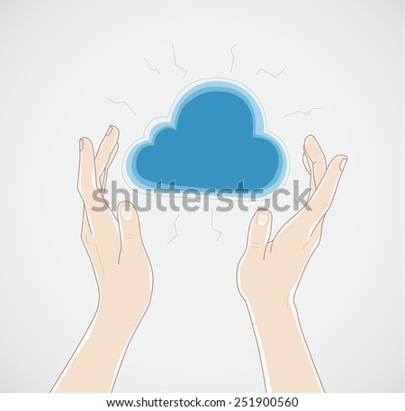 Cloud and Hands
