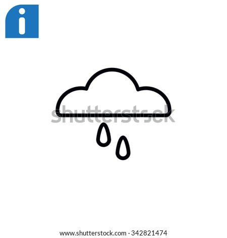 cloud and rain icon - stock vector