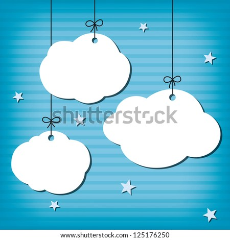Cloud Background - stock vector