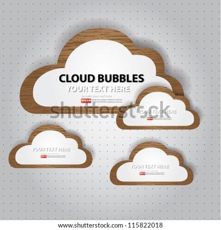 Cloud bubbles for text,Vector - stock vector