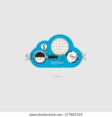 Cloud business - stock vector