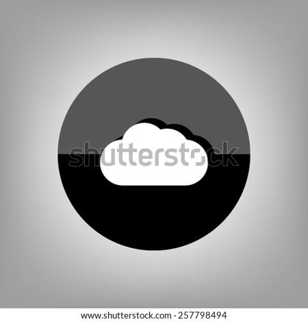cloud button - stock vector