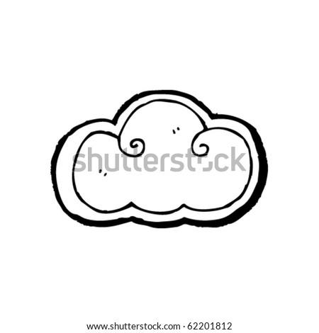 cloud cartoon - stock vector