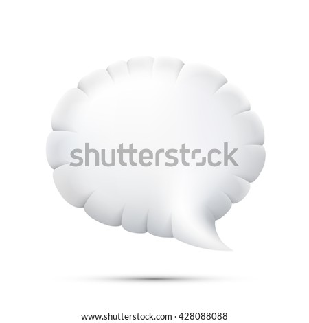 Cloud chat icon 3d on a white background, Vector illustration - stock vector
