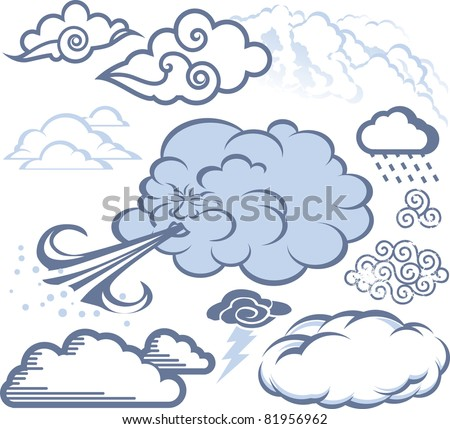 Cloud Collection - stock vector