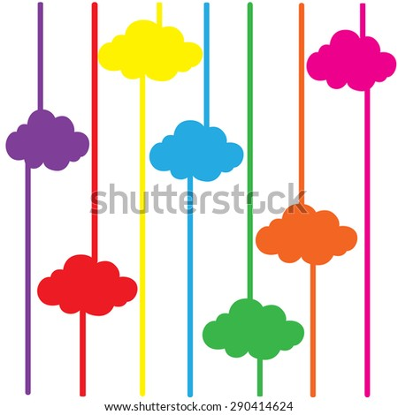cloud colorful background abstract vector illustrator EPS10 - stock vector