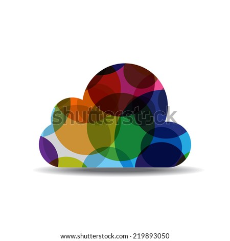 Cloud Colorful Vector Icon Design