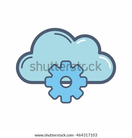 cloud computer logo icon vector
