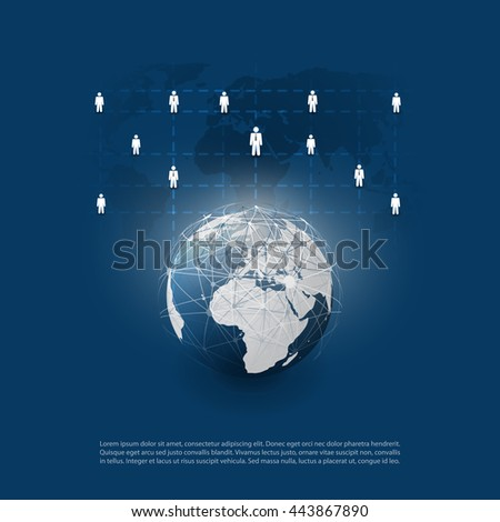 Cloud Computing and Networks Concept Design - stock vector