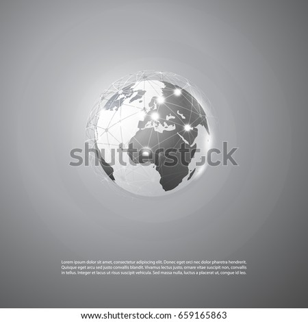 Cloud Computing and Networks Concept - Global Resources, Business or Technology Background, Creative Design Template
