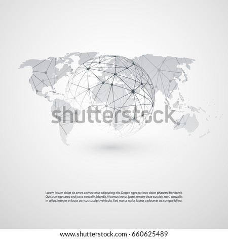 Cloud computing networks concept world map stock vector 660625489 cloud computing and networks concept with world map global digital network connections technology background gumiabroncs Image collections