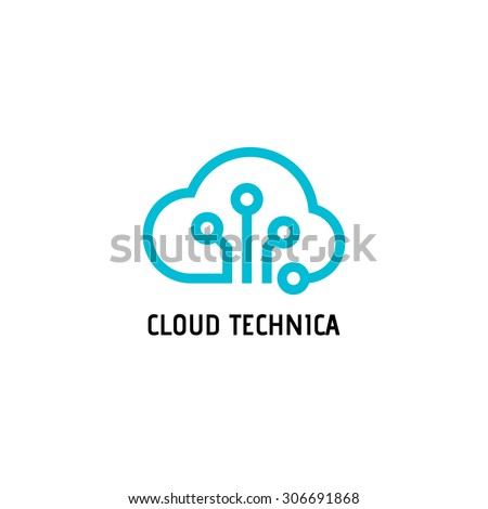 cloud computing logo stock images royaltyfree images