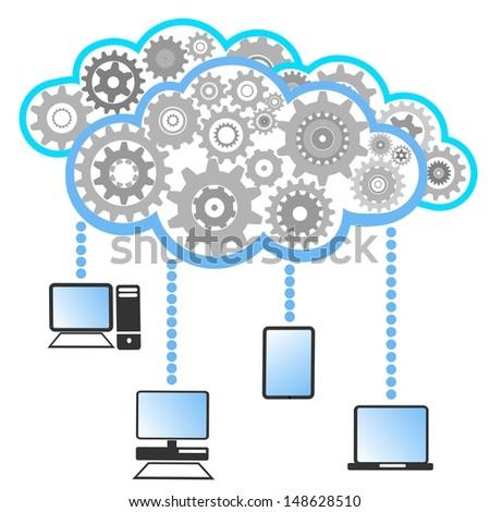 cloud computing background  - stock vector