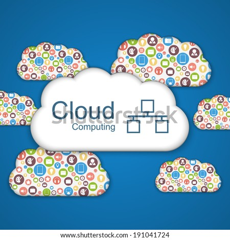 Cloud computing concept. - stock vector