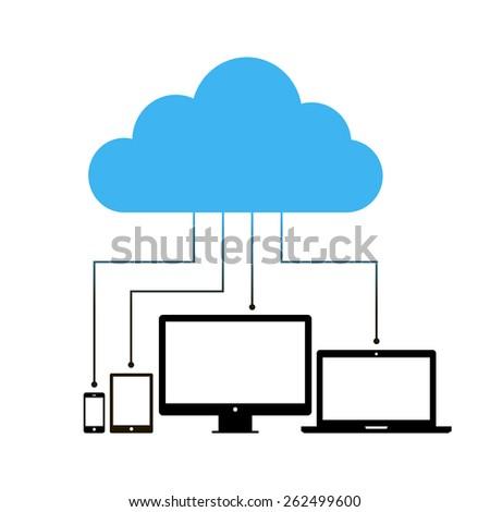 Cloud computing concept design. Vector illustration - stock vector