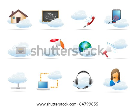 Cloud computing concept Icon - stock vector