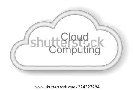 Cloud computing concept on white background   - stock vector