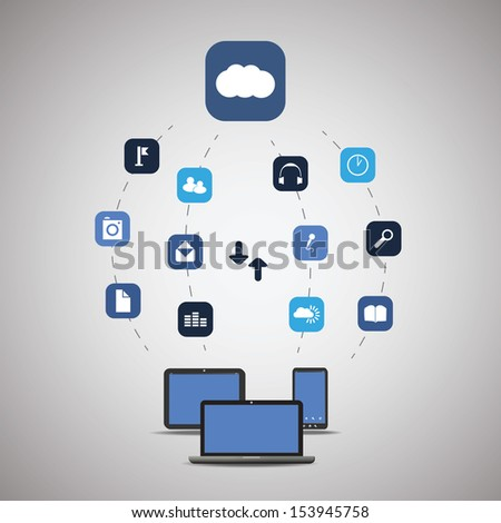 Cloud Computing Concept | Vector Illustration