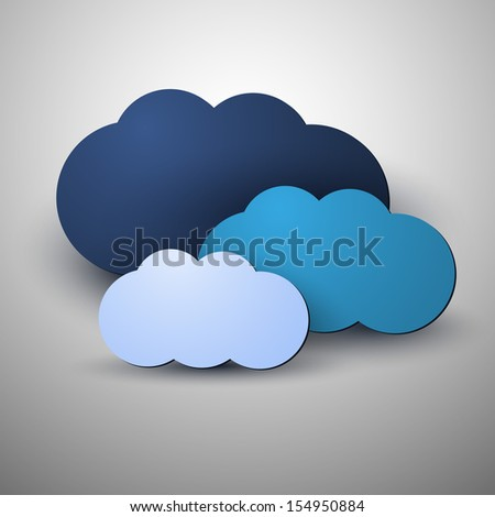 Cloud Computing Concept | Vector Illustration - stock vector