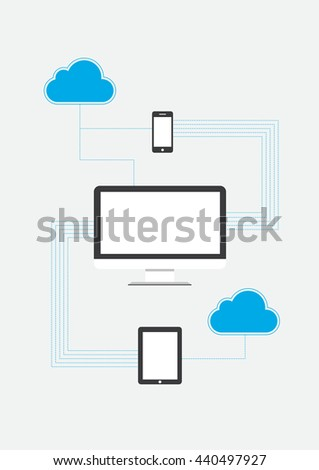 Cloud computing Concept Vector illustration
