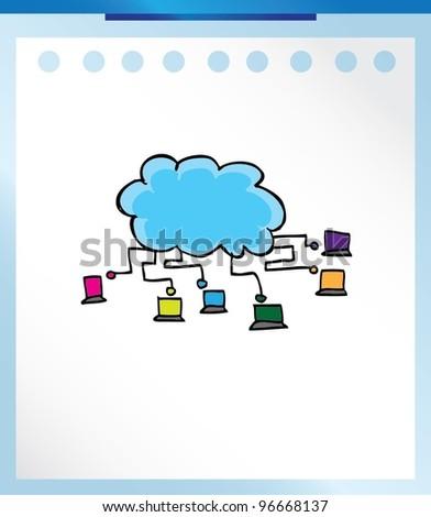 cloud computing concept vector illustration - stock vector