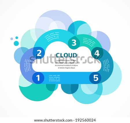 Cloud computing concept vector infographic background with icons - stock vector