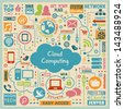 Cloud Computing Design Elements. Vector Illustration - stock photo