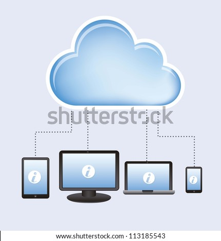 cloud computing design over white background. vector illustration