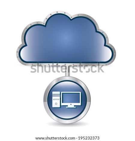 Cloud computing design over white background, vector illustration