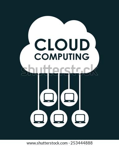 cloud computing design, vector illustration eps10 graphic  - stock vector