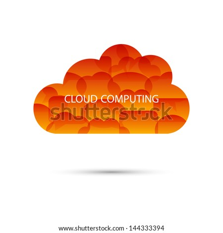Cloud computing from speech bubbles - stock vector