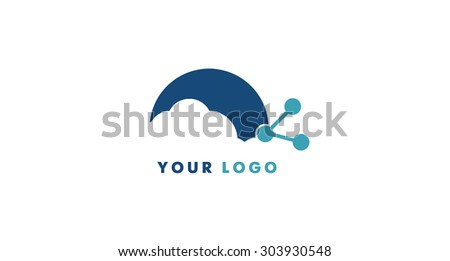 Cloud computing icon, logo in vector format - stock vector