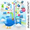 cloud computing , networking - stock vector