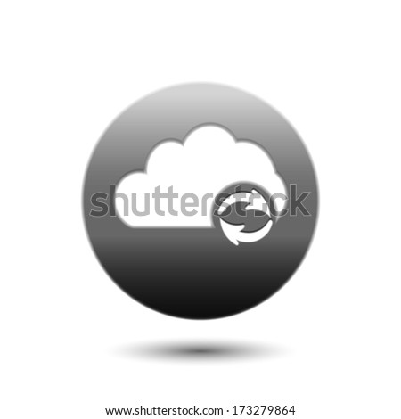 Cloud computing refresh | update icon - stock vector