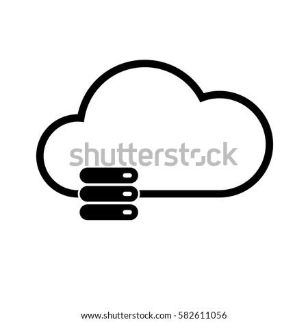 cloud computing server icon vector image stock vector royalty free