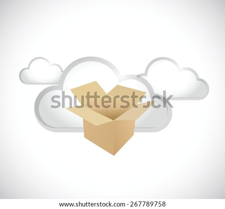 cloud computing storage servers concept illustration design over white - stock vector