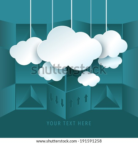 Cloud computing symbol and abstract backgroud. Vector Illustration. - stock vector