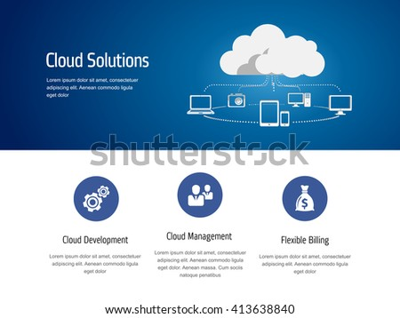 Cloud computing, technology connectivity concept - stock vector