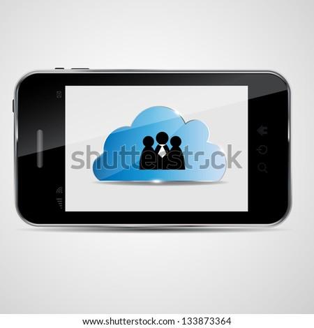Cloud computing vector illustration - stock vector