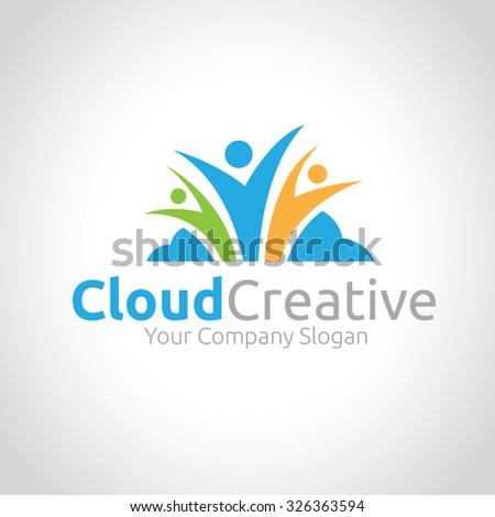 Cloud Creative,Cloud Logo,Vector Logo Template - stock vector