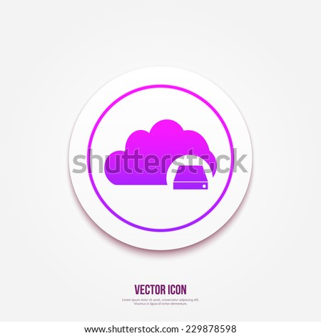Cloud Database Icon : Cloud Computing Concept - stock vector