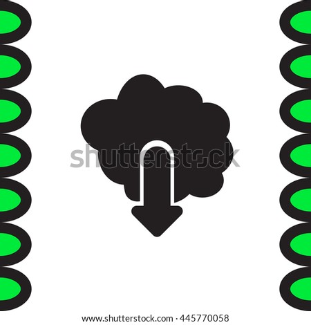 Cloud Download vector icon. Save sign. Network data storage symbol