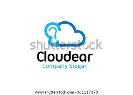 Cloud Ear Design Illustration - stock vector