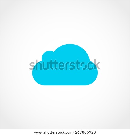 Cloud Icon Isolated on White Background - stock vector