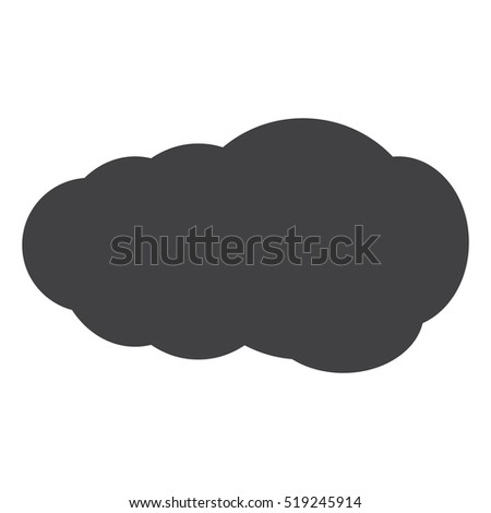 Cloud Icon Vector flat design style