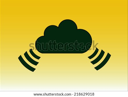 cloud icon, vector illustration