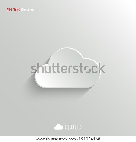 Cloud icon - vector web illustration, easy paste to any background - stock vector