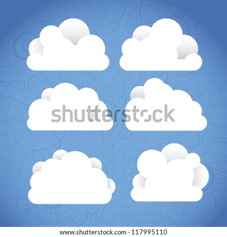 Cloud Icons. Cloud Internet, telecommunications and networks, vector illustration - stock vector