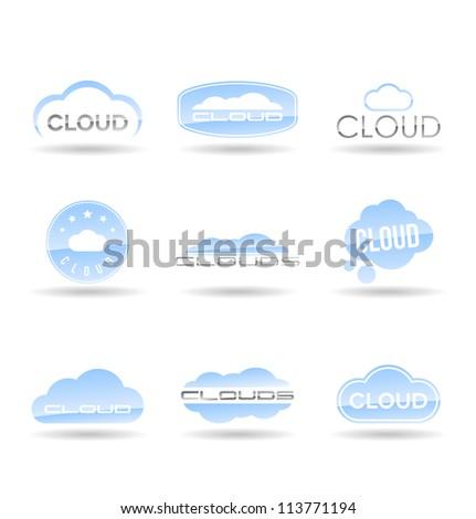 Cloud icons set. Vol 1. - stock vector